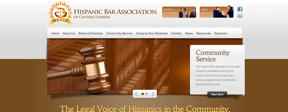 authenticWEB Upgrades the Hispanic Bar Association of Central Florida Website